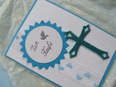 Video-Tutorial: Karte zur Taufe für einen Jungen selber machen / cardmaking - card # 27/2014