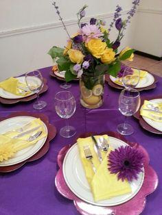 Friendship Brunch table setting