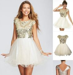 Belle House Women's Short Tulle Beads Homecoming Dress Prom Gown ...