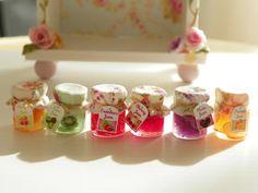 dollhouse miniature jar jams by Mondinadollhouse on Etsy