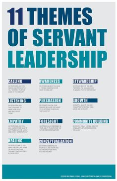 11 themes of servant leadership.#leadership. If you're a user experience professional, listen to The UX Blog Podcast on iTunes.