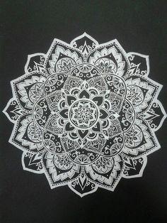 Imagem de mandala, art, and flowers