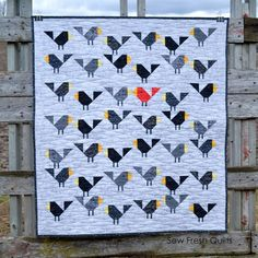 Black Birds baby quilt