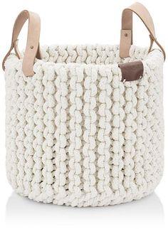UGG® Tulum Medium Rope Basket Home - Bloomingdale's Crochet Shawl, Knit Crochet, Rope Basket, Macrame Art, Macrame Patterns, Llamas, Rustic Style, Crochet Projects, Straw Bag