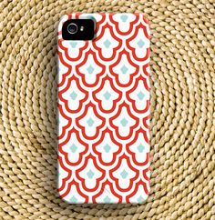 moroccan iphone 5 case in ruby & island bue. $37.50, via etsy.