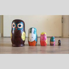 Nesting dolls with favorite figures
