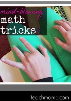 mind blowing math tricks-- ways to make math fun.