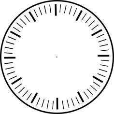 art clock face template | Clock Face, hour and minute marks, no hands clip art