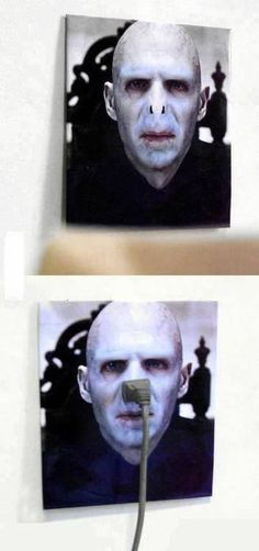 Voldemort Power Outlet, Click the link to view today's funniest pictures!