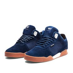 SUPRA ELLINGTON Shoe | NAVY / WHITE - GUM | Official SUPRA Footwear Site