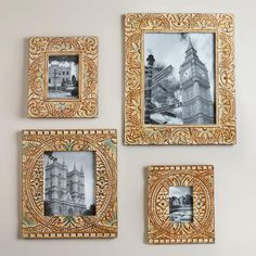 One of my favorite discoveries at WorldMarket.com: Blue Leighton Wall Frames