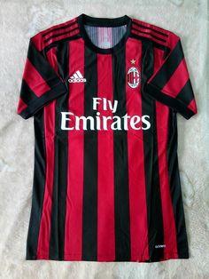AC Milan FC Adizero Player Home Authentic Jersey 2017/18 Football Sport FIFA  #adidas #ACMilan