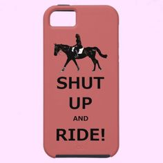 """Funny Shut Up and Ride Horse   Funny horse design with the caption """"Shut Up and Ride!"""". Fun gift for the equestrian in your life."""