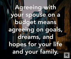 Completely agree with this! Dave Ramsey is amazing! I am blessed to have such a great communication with my husband and the same goals to reach!   www.skinnywrapranchgirl.com  #daveramsey #debtfree #communication #relationships