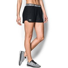 Under Armour Women's Play Up Shorts, Black /White, Medium Under Armour Women, Best Running Shorts, Athletic Shorts, No Equipment Workout, Workout Shorts, Neue Trends, Fit Women, Sportswear, Gym Shorts Womens