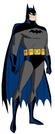 Batman: The animated series Batman's first Batsuit by Alexbadass.deviantart.com on @DeviantArt