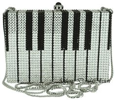 Swarovski Crystal Purses Crystal Handbags Crystal Evening Bags by Anthony David Clear Handbags, Purses And Handbags, Coin Purses, Best Purses, Piano Keys, Cute Bags, Beautiful Bags, Musical, Clutch Purse