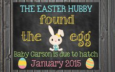 Custom Printable Easter Pregnancy Announcement // Pregnancy Reveal