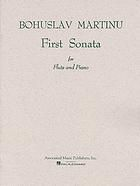 Martinu, Bohuslav. First Sonata for Flute and Piano.  Nueva York: Associated Music Publishers, 1951