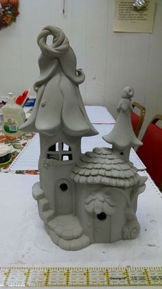 """Elf or Fairy House and home unpainted ceramic bisque ready to paint DIY #250 - home-painting.inf... """"Elf or Fairy House and home unpainted ceramic bisque r"""