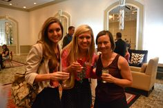 Jenna Sanders, Kathryn Tubbs, and Ryan Nowlin mingling at the cocktail hour for Employees' Choice 2013.