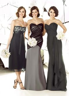 middle dress and far right... gorgeous!