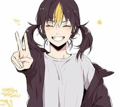 Nishinoya is so cute. Haikyuu Nishinoya, Haikyuu Manga, Haikyuu Genderbend, Haikyuu Funny, Haikyuu Fanart, Manga Anime, Kageyama, Girls Anime, Anime Art Girl