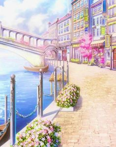 Episode Backgrounds, Anime Backgrounds Wallpapers, Anime Scenery Wallpaper, Nature Wallpaper, Cute Wallpapers, Fantasy Art Landscapes, Fantasy Landscape, Aesthetic Backgrounds, Aesthetic Wallpapers