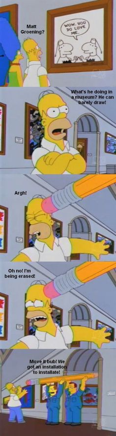 The Simpsons writers are geniuses when it comes to self-deprecation.