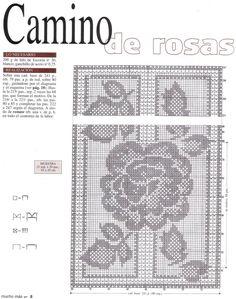 Szydełkomania: Bieżnik w róże