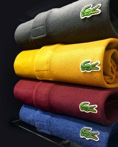 Lacoste polo shirts available in our Terraces Hanley store & online