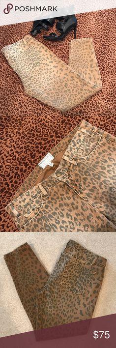 "CURRENT/ELLIOTT Jeans Current/Elliott ""stiletto style"" skinny jeans. Color is camel leopard. Inseam is 27"". New-never worn. Smoke free 🏡 Current/Elliott Jeans Skinny"