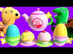 Play Doh Peppa Pig Tea Party Set Playdough Cupcake Surprise Play-Doh Food Toys for Kids - YouTube