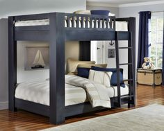 full over full bunk bed by babyu0027s dream furniture with pine creek bedding huggers and shams