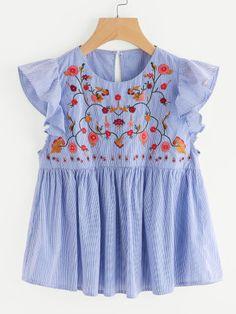 Idea blusa bordada