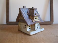 New Item! Vintage Windy Meadows Pottery Candle House-Hometown Depot-Ceramic Depot Cottage #49...Reshopgoods by Reshopgoods on Etsy