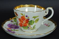 Meissen Porcelain Manufactory (Germany) —  Cup & Saucer,   19th century   (1024x685)