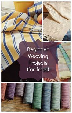 Download this free eBook full of free hand weaving projects for beginners including functional (and colorful!) handwoven towels and placemats.