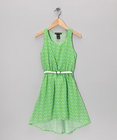 Take a look at this Lime Heart Dress by Eyeshadow on @zulily today!