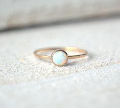 Gold Opal Ring. Opal Ring Gold, Dainty Opal Ring, Opal Stacking Ring, Small Opal Ring, Opal Stackable Ring, Stackable Gemstone Rings
