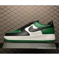 save off 96410 e48ec Online Nike Air Force One Low Black-White Pine Green Men s Shoes 315112-302