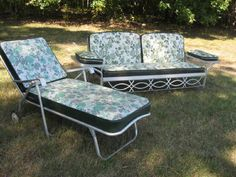Metal Vintage Cushioned Porch Gliders,Old Metal Gliders,Vintage Gliders - Vintage Gliders