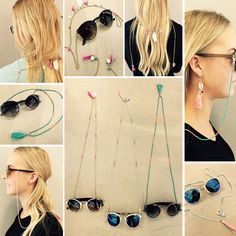 Check out super awesome products at Shire Fire! :-) OFF or more Sunglasses SALE! Diy Tutu, Cute Sunglasses, Eyeglass Holder, Lanyards, Leather Chain, Body Jewelry, Chains, Eyeglasses, Jewelry Making