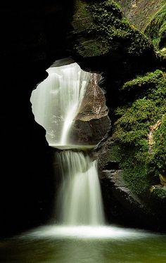 St Nectan's Glen Waterfalls, Cornwall, UK --- It's like a secret entrance to another world