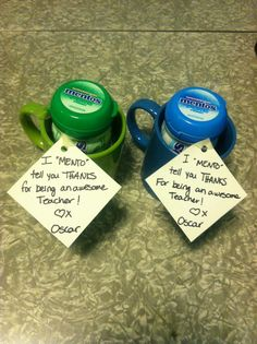 """Easy last minute """"thank you"""" gift for teachers"""