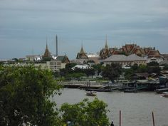 Overlooking the Chao Phraya River in central Bangkok