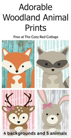 graphic about Printable Woodland Animals named ☞ 20+ absolutely free woodland printables - Waldtiere Druckvorlagen