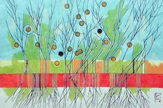 "Saatchi Art Artist Federico Cortese; Painting, ""Withered tree"" #art"