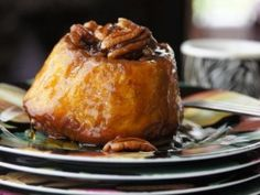 Pumpkin Sticky Buns with Pecan Bourbon Caramel Goodness : Recipes : Cooking Channel