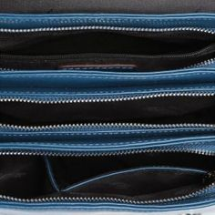 Trójdzielna listonoszka w kolorze modrym